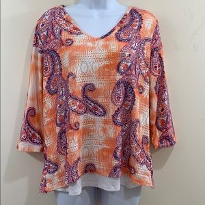 Onque Casual Long Sleeve Paisley Shirt  Size XL